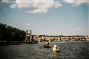 Chair, Boat, Fishing, Prague Czech Republic