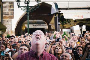 People experiencing Prague Carillon.
