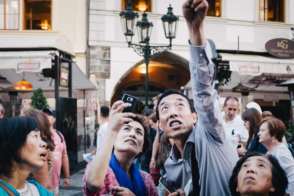 Tourists experiencing Orloj.