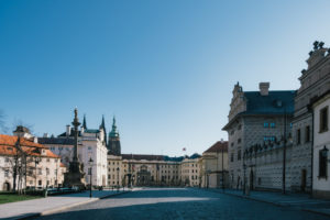 Prague Castle Square (Pražský hrad) without the crowds