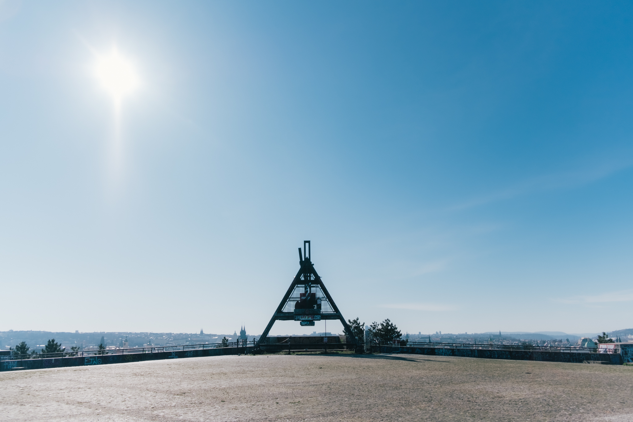 Prague Metronome (Stalin) without people